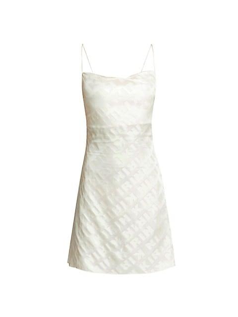 Iridescent Logo Slip Dress
