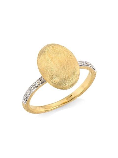 Siviglia 18K Yellow Gold & Diamond Vertical Ring