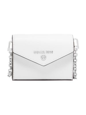 Michael Michael Kors Women's Extra-small Jet Set Charm Leather Crossbody Card Case In Optic White