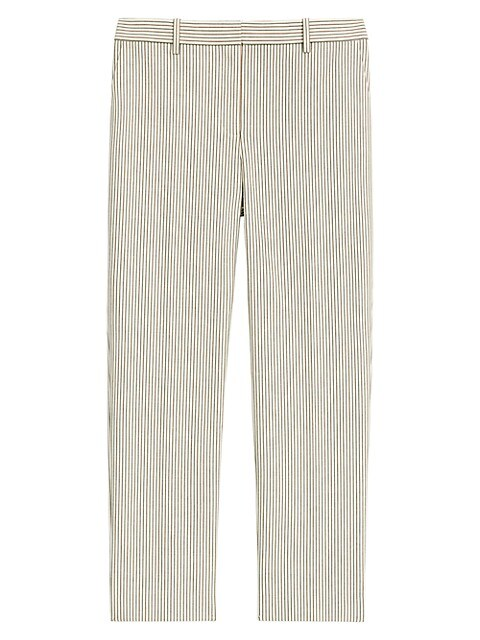 Striped Ankle Crop Pants