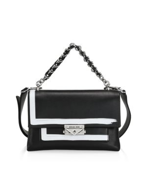 Michael Kors Women's Medium Robin Leather Shoulder Bag In Black Multi