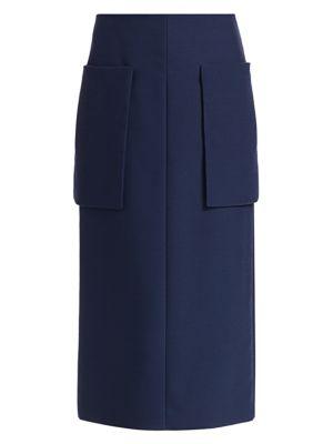 The Row Midi skirts Jenna Patch-Pocket Midi Skirt