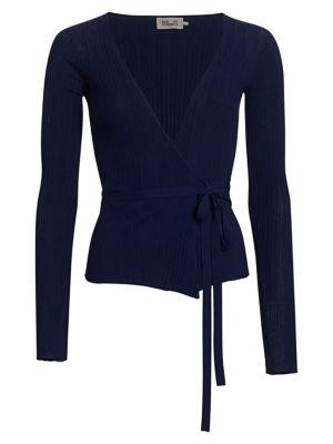 Baum Und Pferdgarten Women's Cayleigh Wrap Cardigan In Blue