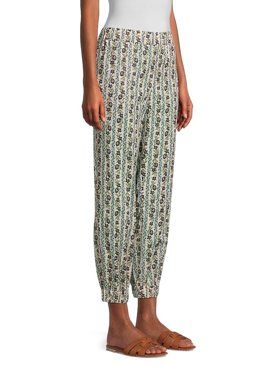 TORY BURCH Cottons WOMEN'S BEACH PRINTED PANTS