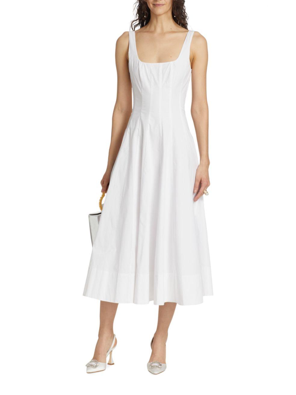 Staud Wells Midi Dress | SaksFifthAvenue