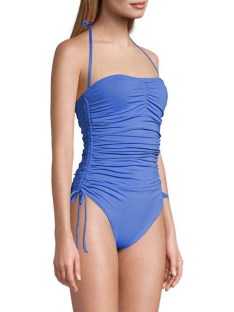 Melissa Odabash Sydney One-Piece Ruched Tie Swimsuit | SaksFifthAvenue