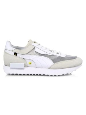 Puma Leathers Men's Future Rider Leather-Blend Sneakers
