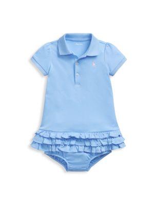 Ralph Lauren Polo Baby Girls Size 9 Months Pink NWT NEW Dress Ruffle