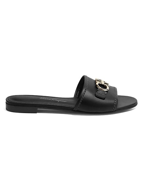 Rhodes Flat Leather Sandals