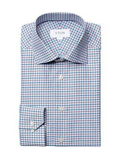 John Varvatos Star USA Stretch Regular Fit Iris Micro Check Dress Shirt Nwt