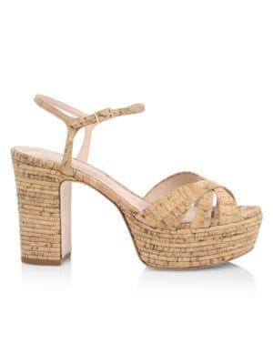 Darilia Ribbed Cork Platform Sandals