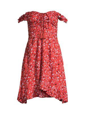 Tiare Hawaii Koi Floral-Print Mini Dress