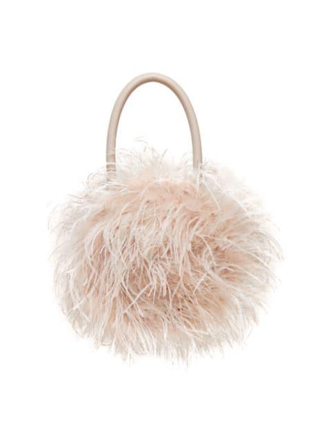Loeffler Randall Zadie Feather Top Handle Bag | SaksFifthAvenue