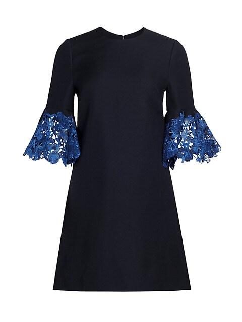 Floral Lace-Trim Sheath Dress