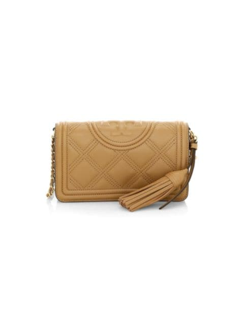 Tory Burch Fleming Leather Wallet-On-Chain | SaksFifthAvenue