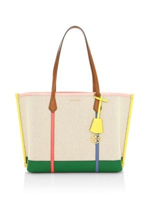 Tory Burch Perry Canvas Tote Saks
