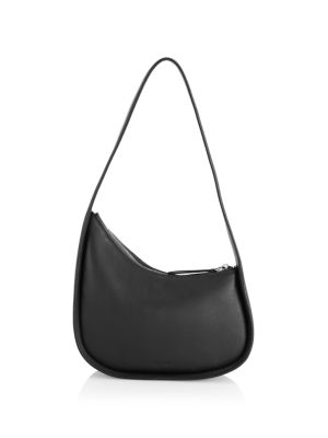 The Row Leathers Half Moon Leather Shoulder Bag