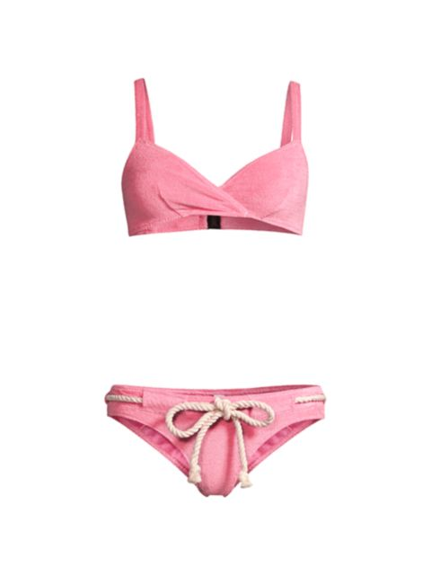 Lisa Marie Fernandez Yasmin 2-Piece Drawstring Bikini Set | SaksFifthAvenue