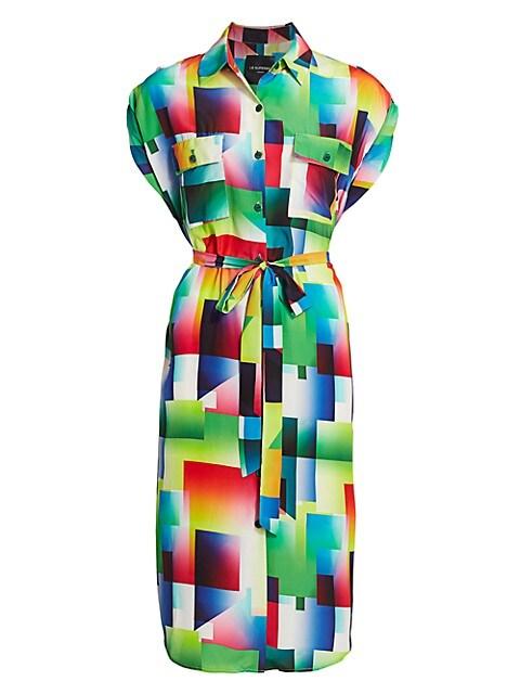 Prism Print Shirtdress