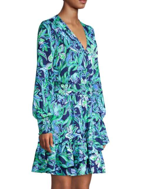 Lilly Pulitzer Cristiana Smocked Dress   SaksFifthAvenue