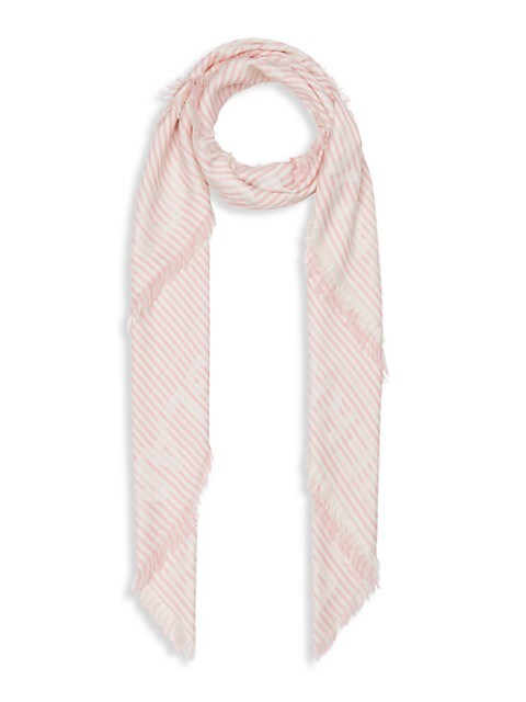 Striped Logo Jacquard Large Square Scarf