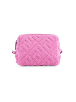 Fendi Women's Small Ff 1974 Embossed Terry Pouch In Pink
