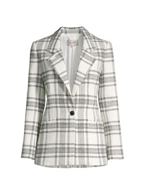Rebecca Taylor Jackets Plaid Tweed Jacket