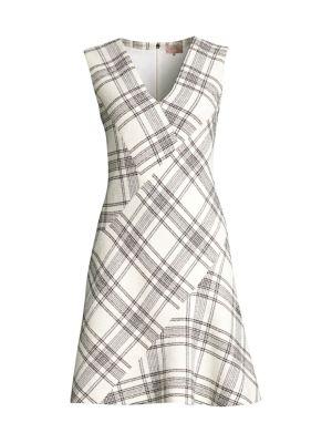 Rebecca Taylor Dresses Plaid Tweed Dress