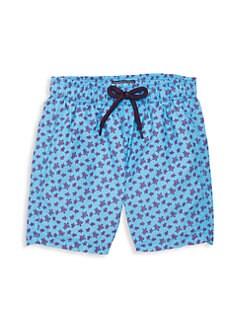Ralph Lauren Baby Boys Captiva Cotton-Blend Swim Trunk Blue Floral