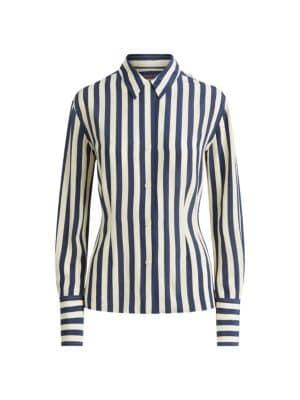 New Womens Ex Branded Grey /& White Stripe Cross Back Detail Peplum Top Size 6-20