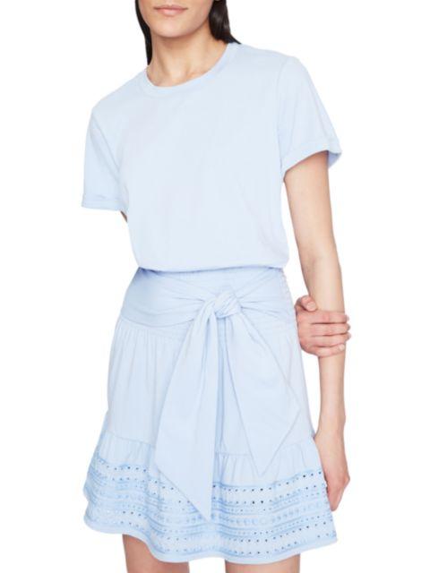 Parker Fleur Eyelet Hem Mini Dress | SaksFifthAvenue