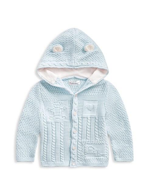 Baby Boy's Bear-Ear Knit Cardigan