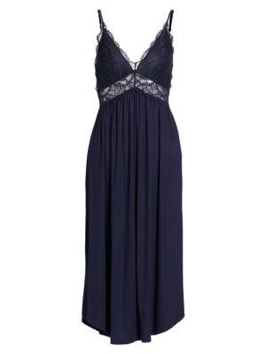 Eberjey Women's Marry Me Madame Gown In Peacoat