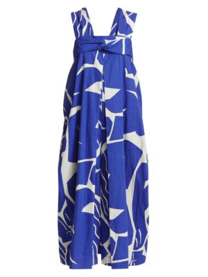 Issey Miyake Women's Cuddle Printed Overall In Blue Hued
