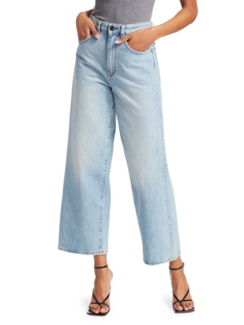Toteme Flair High-Rise Wide-Leg Jeans   SaksFifthAvenue