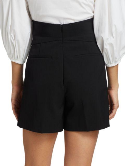 REDValentino Lana Short Reps Tux Shorts   SaksFifthAvenue