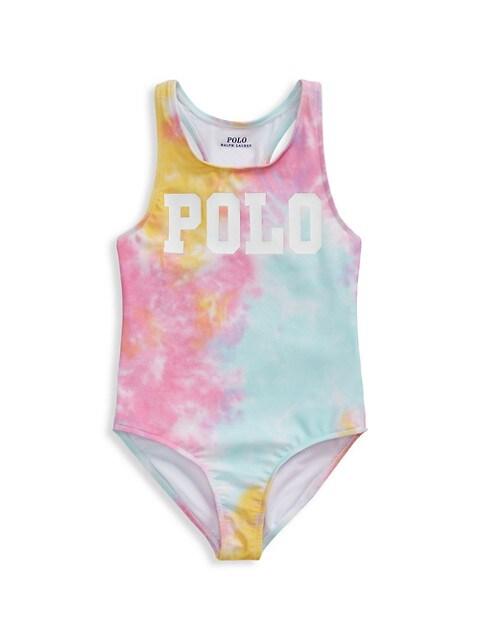 Little Girl's Tie-Dye One-Piece Swimsuit