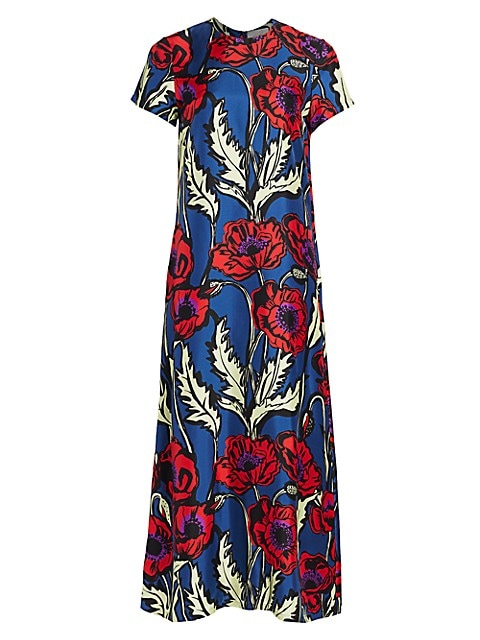 Edition 20 Big Floral Silk Swing Dress