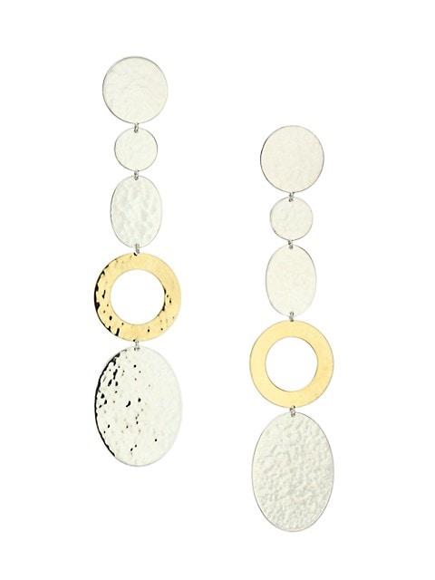 Classico Chimera Two-Tone Mixed-Shape Linear Earrings