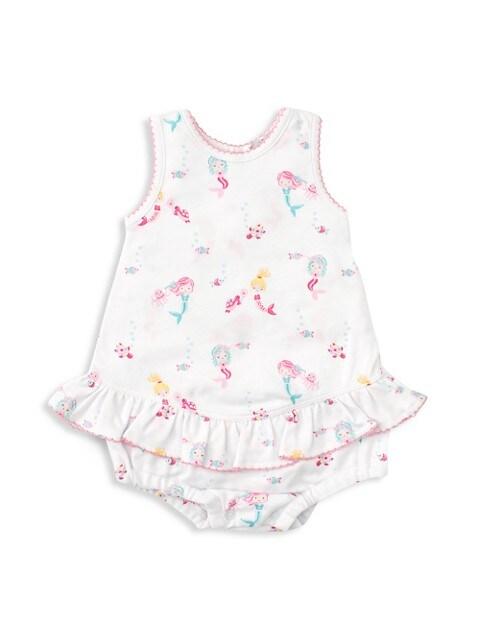 Baby Girl's Mermaid Glamour Ruffle Bubble Dress