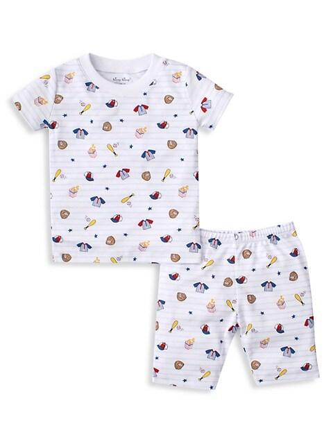 Baby's, Little Boy's, & Boy's 2-Piece Ball Park Tee & Shorts Pajama Set