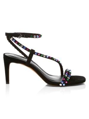 Rebecca Minkoff High heels Nanine Jewel-Embellished Leather Sandals