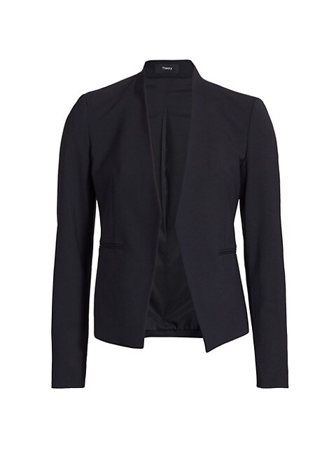 Theory Lanai Collarless Blazer