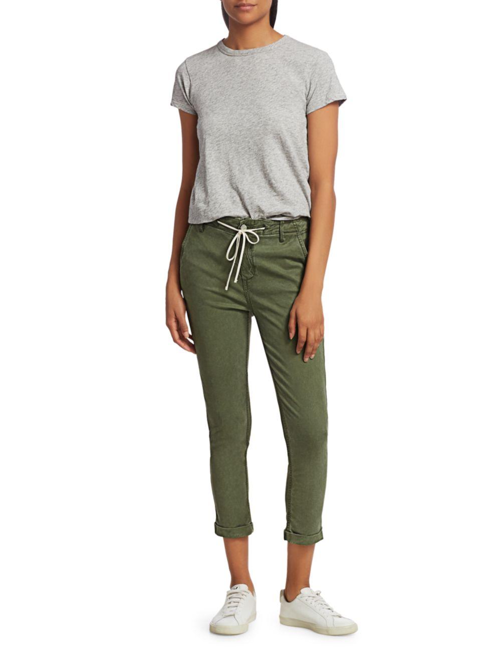 Paige Jeans Christy Drawstring Cropped Pants   SaksFifthAvenue