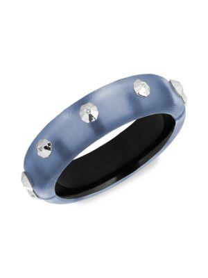 Alexis Bittar Studded Lucite Hinge Bracelet