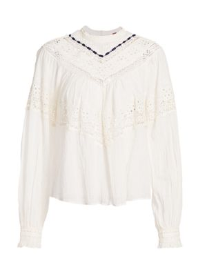 FREE PEOPLE Fashion Women Ivory Chic Sam Off The Shoulder T Shirt Tops