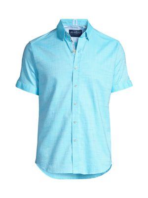 Robert Graham Men's Jackson Micro Print Sport Shirt In Aqua