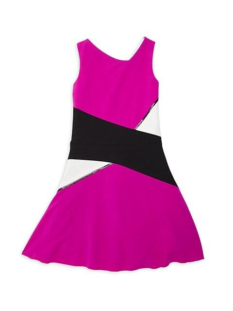 Girl's Dani Colorblock Knit Dress