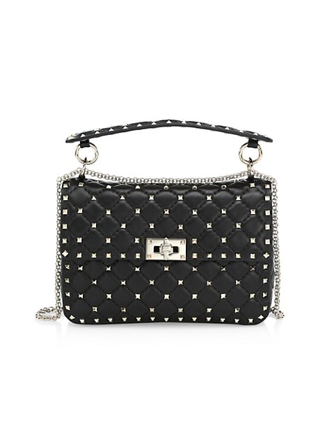 Valentino Garavani Medium Rockstud Spike Leather Shoulder Bag