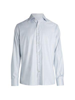 Saks Fifth Avenue COLLECTION Large Windowpane Dress Shirt
